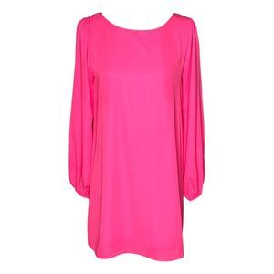 Nymphe Hot Pink Long Sleeve Dress Small